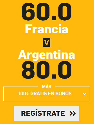 Supercuota Betfair Mundial Francia - Argentina
