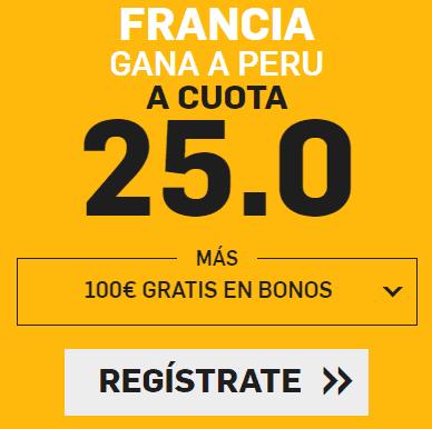 Supercuota Betfair Mundial Francia - Peru
