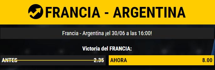 Supercuota Bwin Francia - Argentina