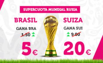 Supercuota Wanabet Mundial Rusia Brasil - Suiza