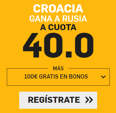 Supercuota Betfair Croacia - Rusia