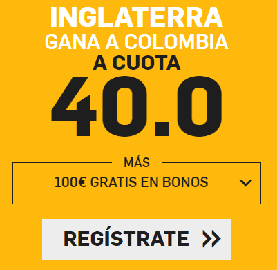 Supercuota Betfair Inglaterra - Colombia