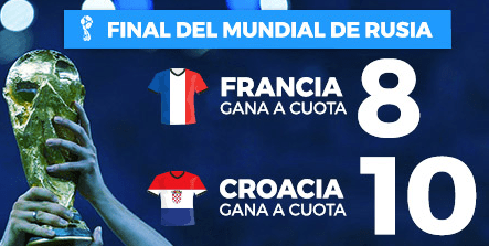 Supercuota Paston Final Mundial Rusia Francia - Croacia