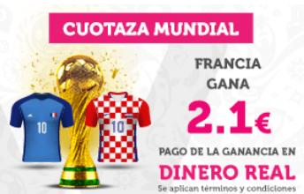 Supercuota Wanabet Mundial Rusia Francia gana a cuota 2.1