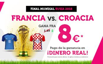 Supercuota Wanabet Mundial Rusia Francia vs Croacia