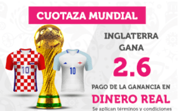 Supercuota Wanabet Mundial Rusia Inglaterra gana a Croacia dinero Real