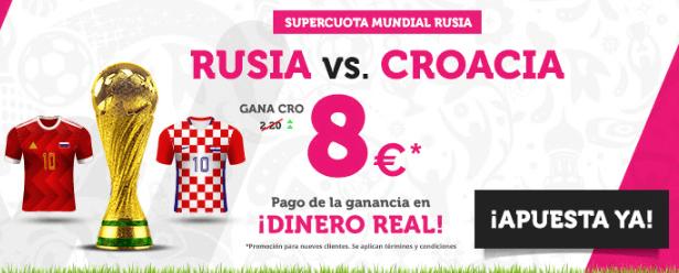 Supercuota Wanabet Mundial Rusia Rusia vs Croacia
