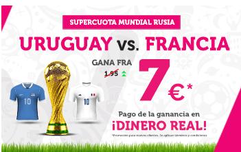 Supercuota Wanabet Uruguay vs Francia