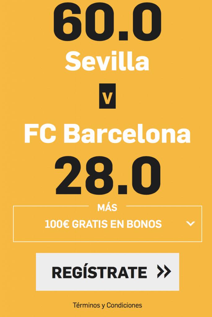 supercuota betfair Sevilla - Barcelona