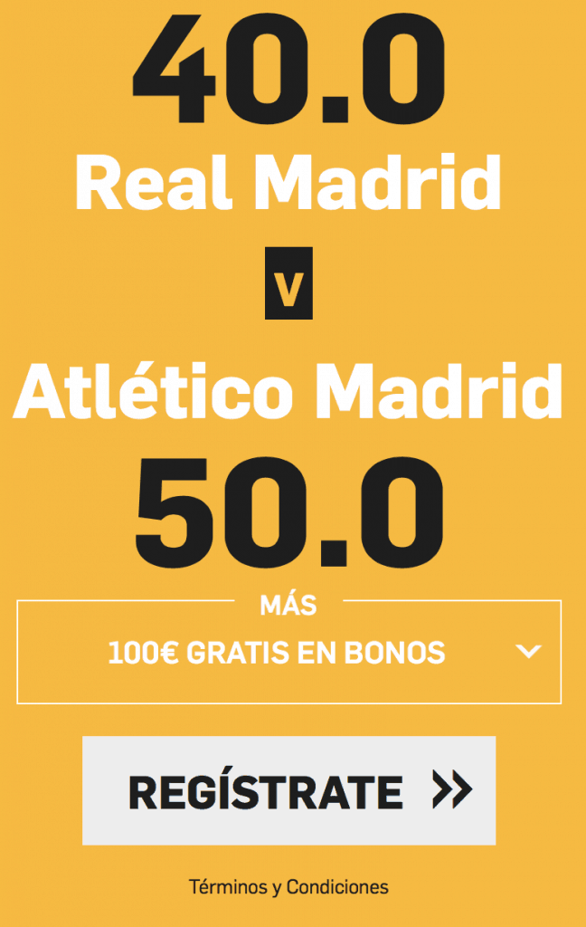 Supercuota betfair Real Madrid - Atlético