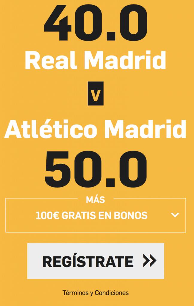 Supercuota betfair Real Madrid - Atlético