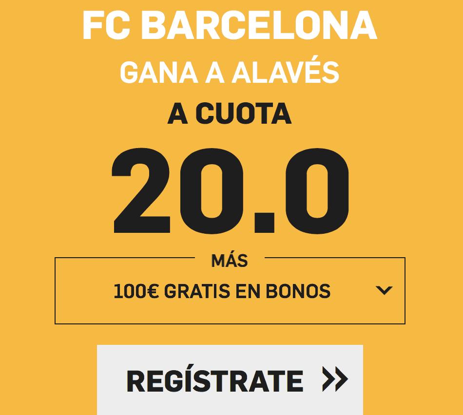 supercuota betfair Barcelona - Alavés