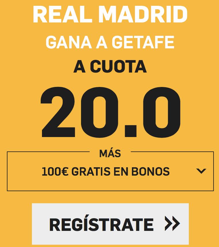 Supercuota betfair Real Madrid - Getafe
