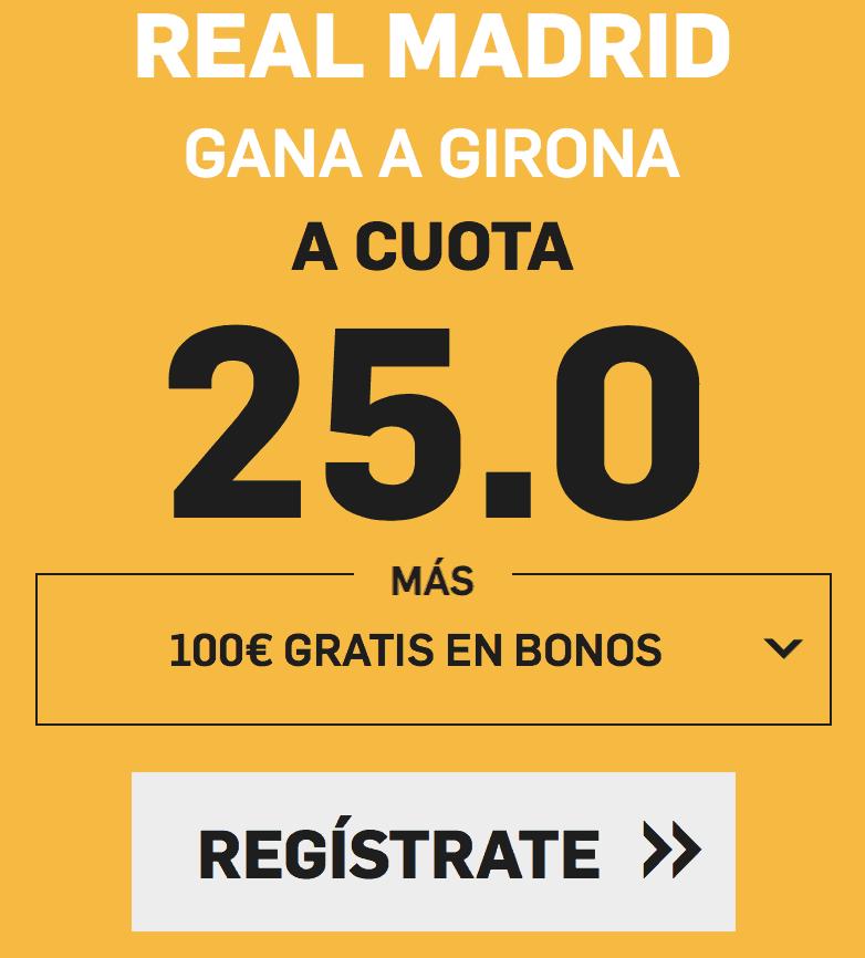 Supercuota betfair Girona - Real Madrid