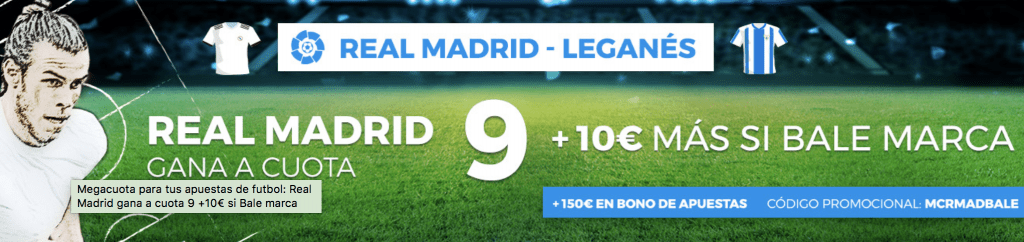 Supercuotas Paston Liga Real Madrid