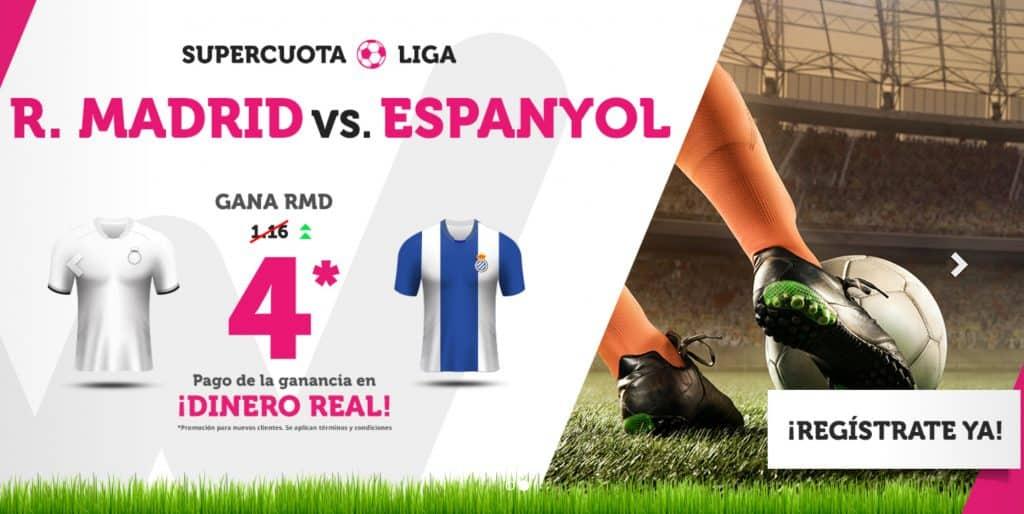 Supercuota Wanabet Liga Real Madrid Espanyol