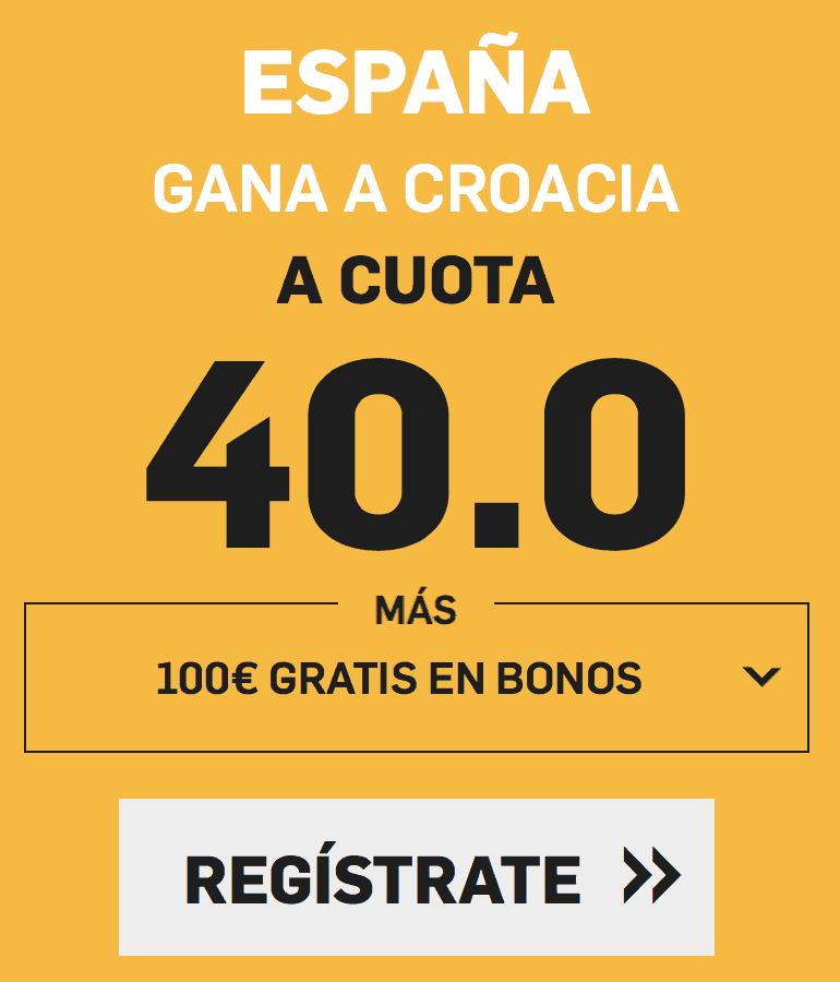 supercuota betfair España - Croacia