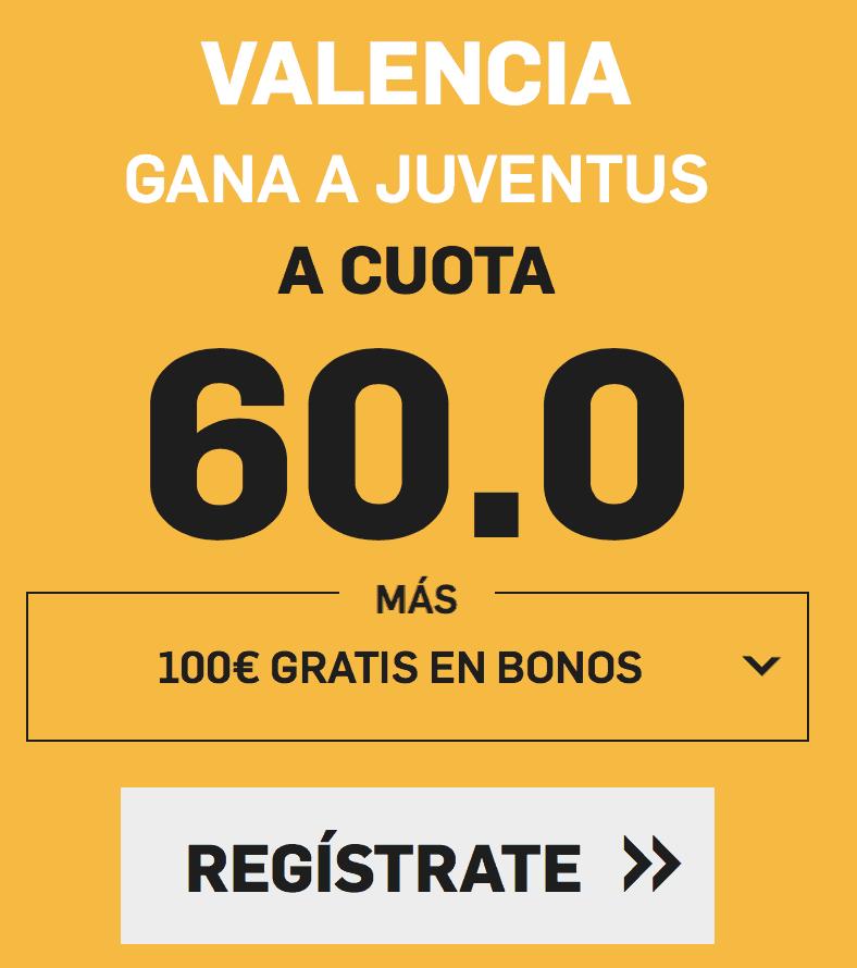 Supercuota betfair Champions Valencia