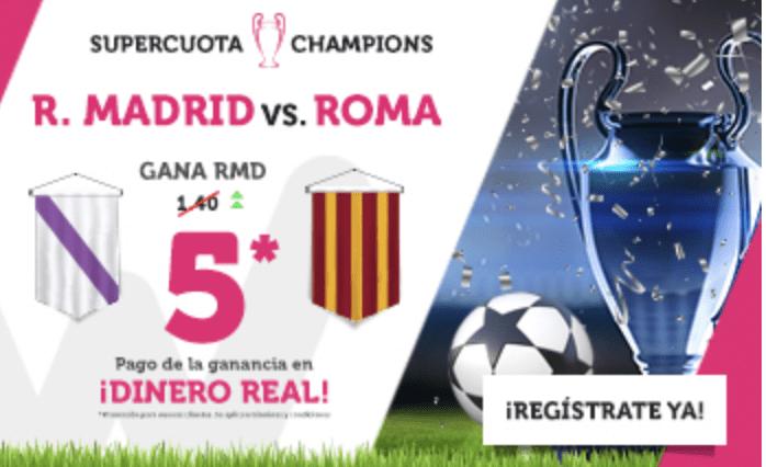 Supercuota Wanabet Champions League Real Madrid