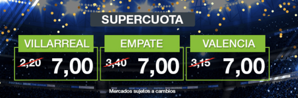 Supercuota Codere Villareal - Valencia