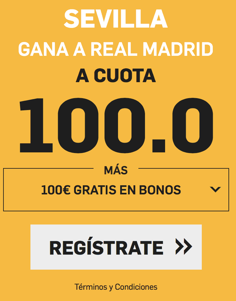 Supercuota betfair Sevilla - Real Madrid