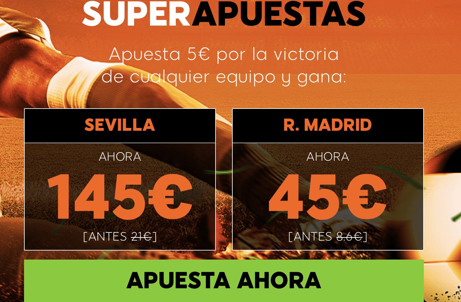 Supercuotas 888sport Sevilla - Real Madrid