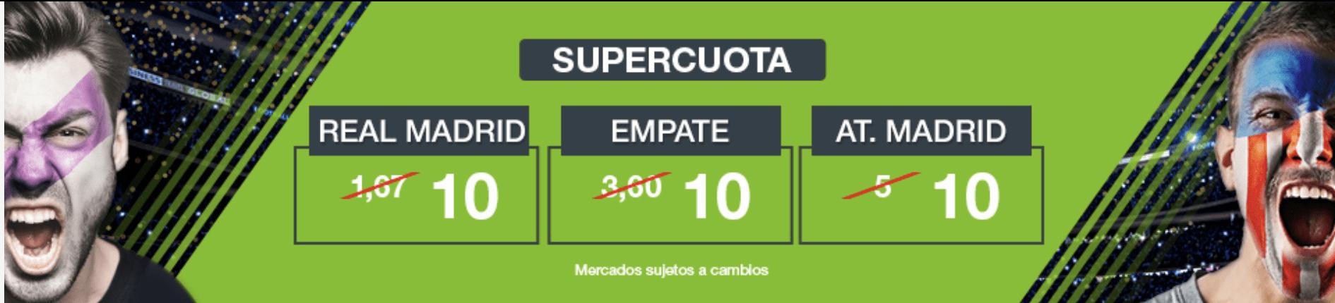 Supercuotas Codere Real Madrid - Atlético