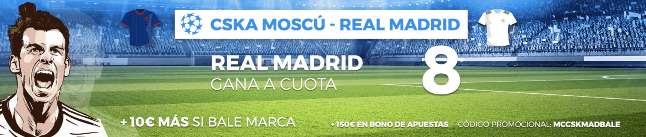 Supercuotas Pastón Champions League CSKA - Real Madrid