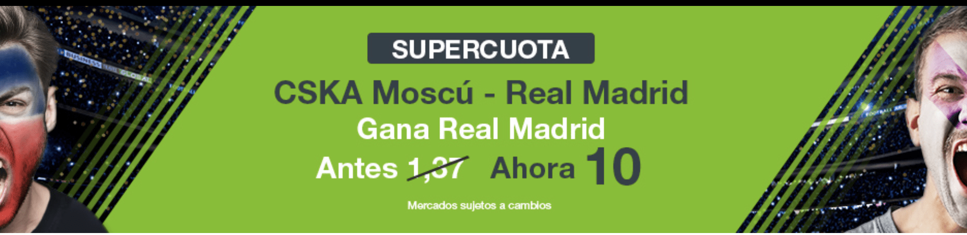 Supercuota Codere Champions League CSKA - Real Madrid