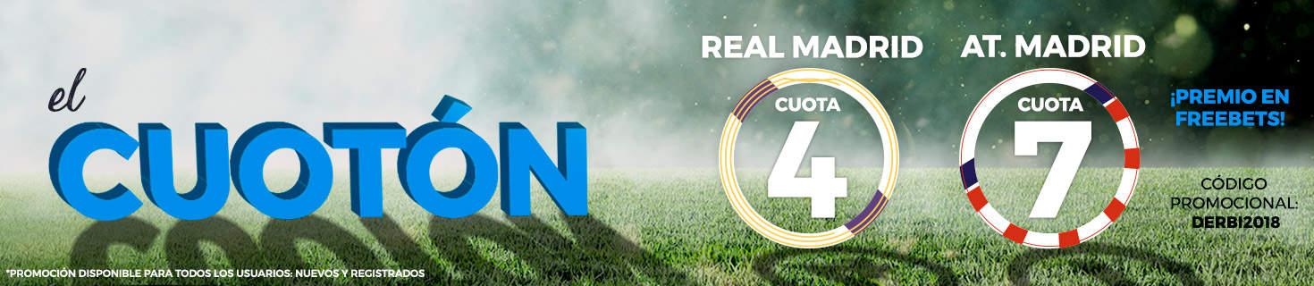 Supercuotas Paston derbi Real Madrid - Atlético de Madrid
