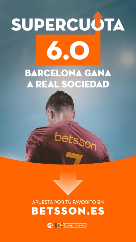 supercuota betsson liga real sociedad fc barcelona