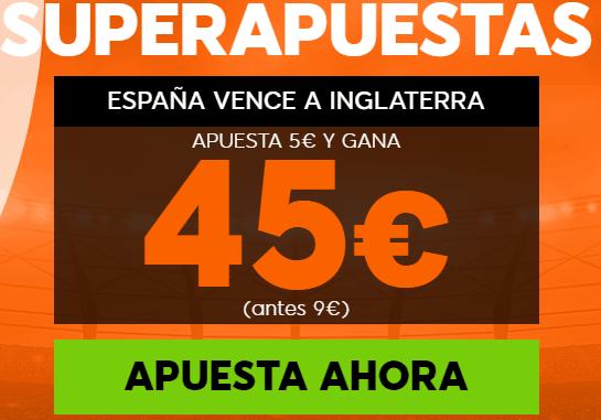 Supercuota 888sport España - Inglaterra