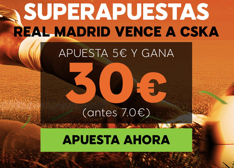 Supercuota 888sport Champions League CSKA - Real Madrid