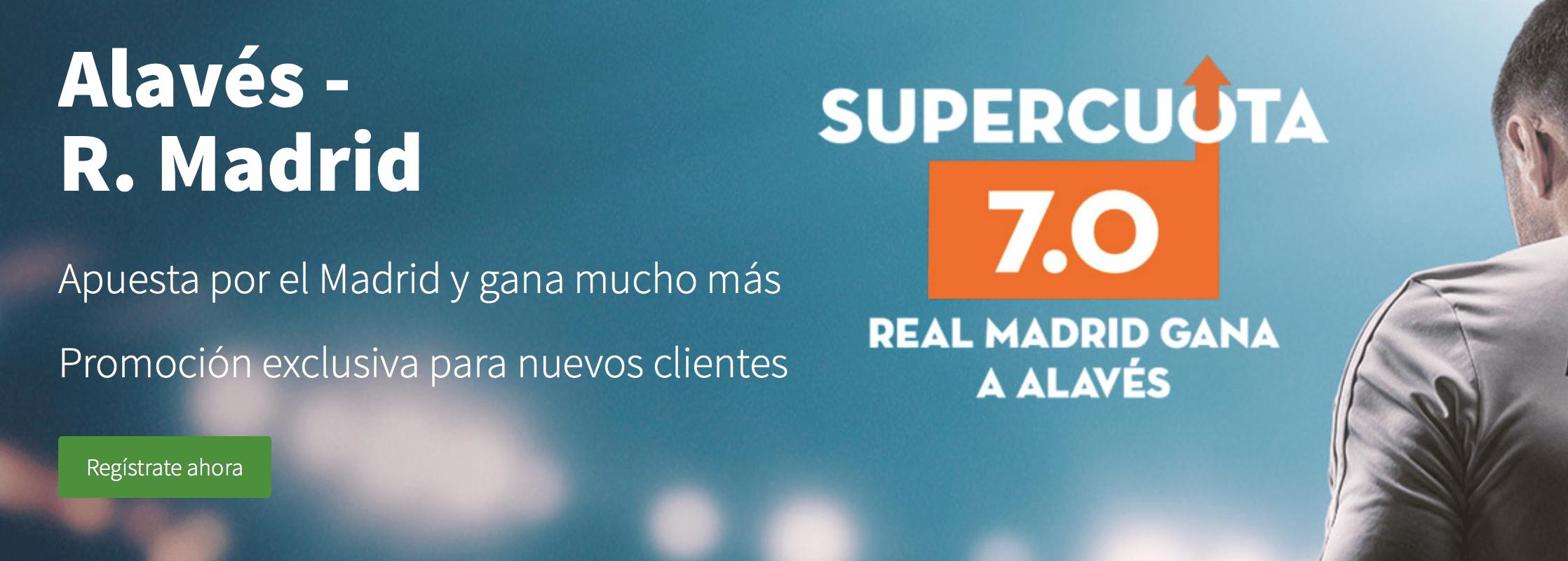 Supercuota betsson liga Alavés - Real Madrid