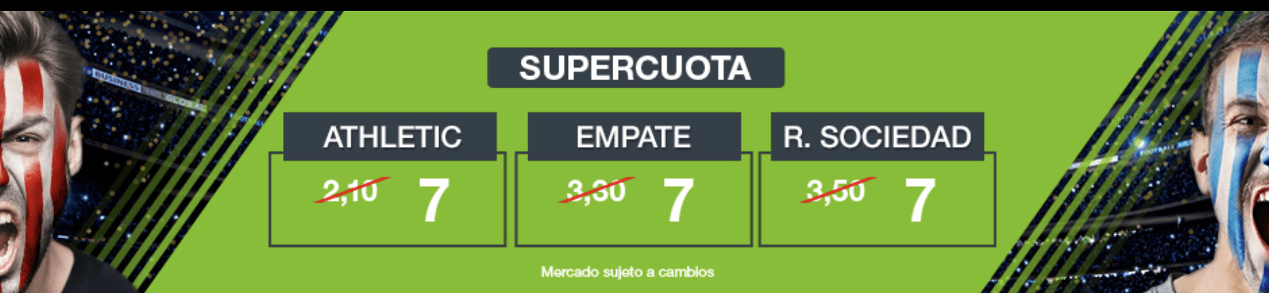 Supercuotas codere la liga Athletic - Real Sociedad