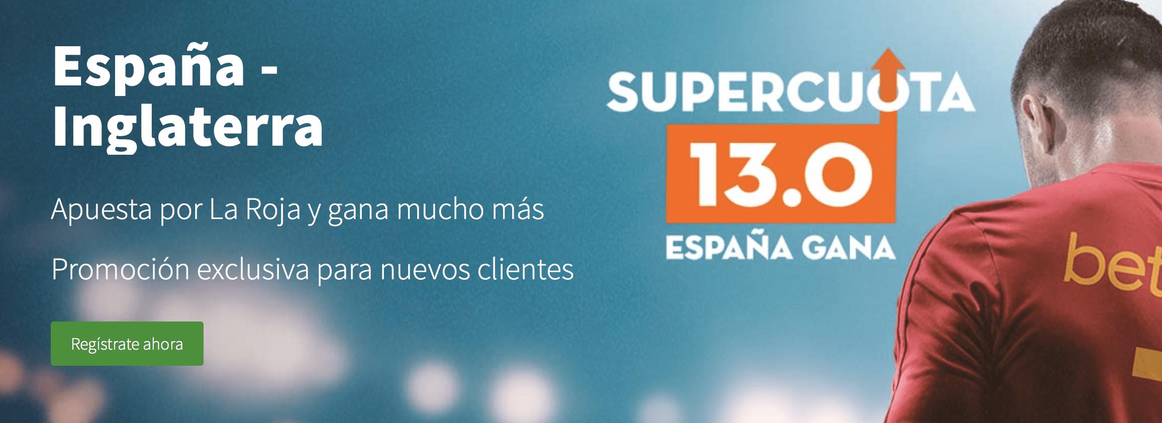 Supercuotas betsson España - Inglaterra