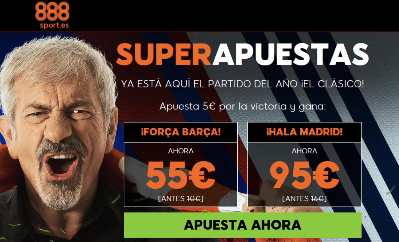 supercuotas 888sport la liga el clásico FC Barcelona - Real Madrid