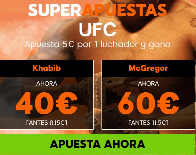 supercuotas 888sport UFC Khabib - McGregor
