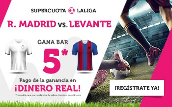 supercuotas wanabet Real Madrid - Levante