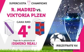 Supercuotas Wanabet Real Madrid - Viktoria Plzen