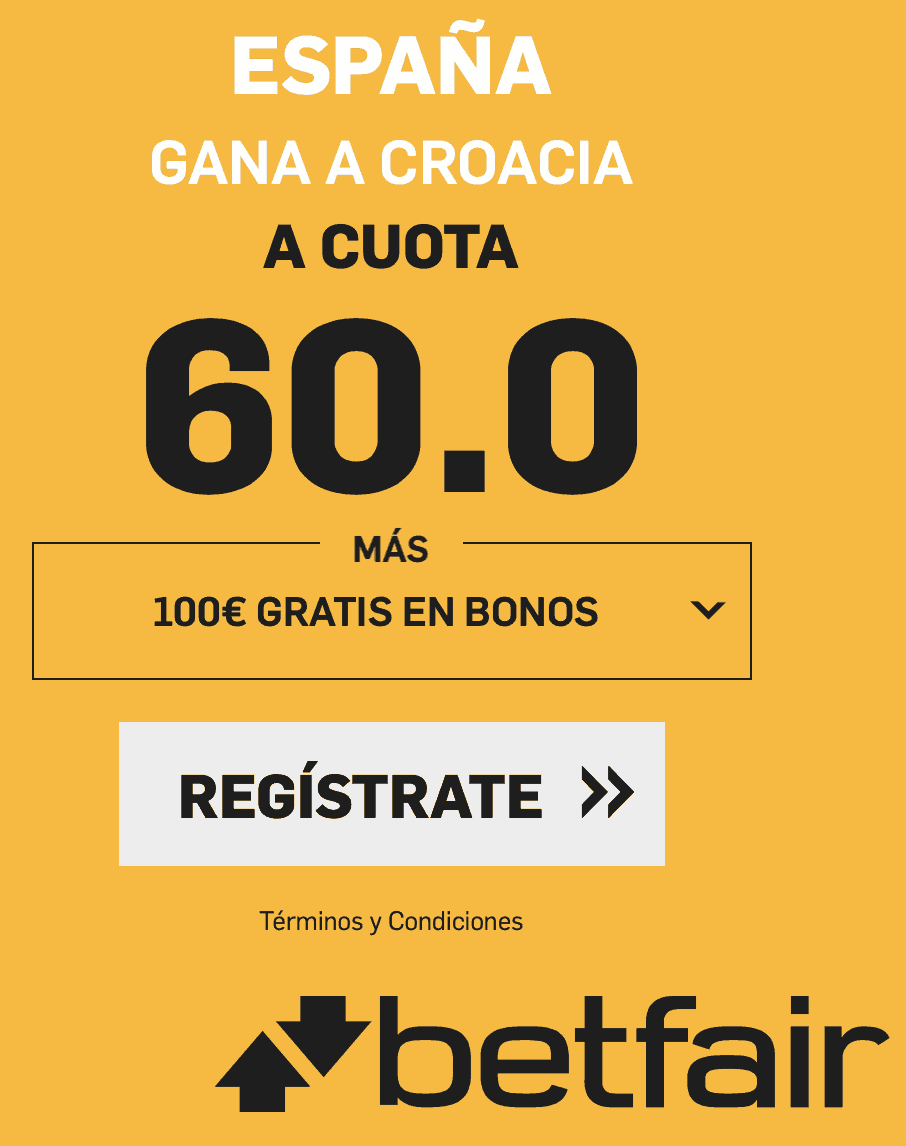 Supercuotas betfair Croacia - España