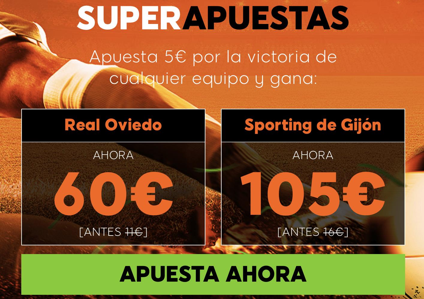 Supercuotas 888sport Oviedo - Sporting Gijón