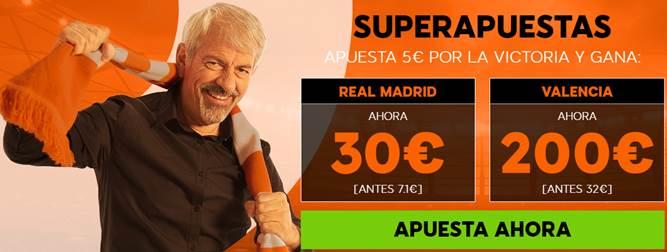 Supercuotas 888sport La Liga Real Madrid - Valencia