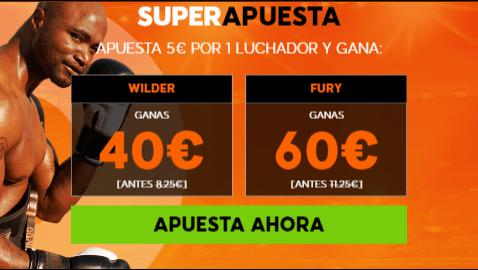 Supercuotas 888sport Boxeo Wilder vs Fury