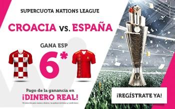 Supercuotas wanabet liga de naciones Croacia - España