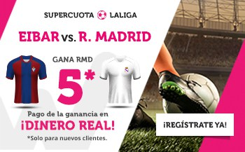 supercuota wanabet Eibar - Real Madrid
