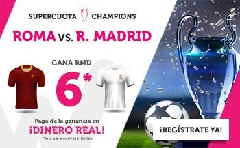 Supercuotas wanabet champions League Roma - Real Madrid