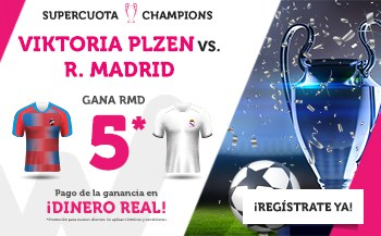 Supercuotas Wanabet Champions League Viktoria Plzen - Real Madrid