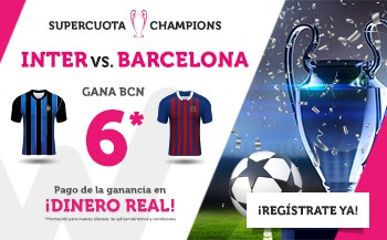 Supercuotas Wanabet Champions League Inter - Barcelona
