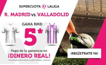Supercuotas Wanabet Liga Real Madrid - Valladolid